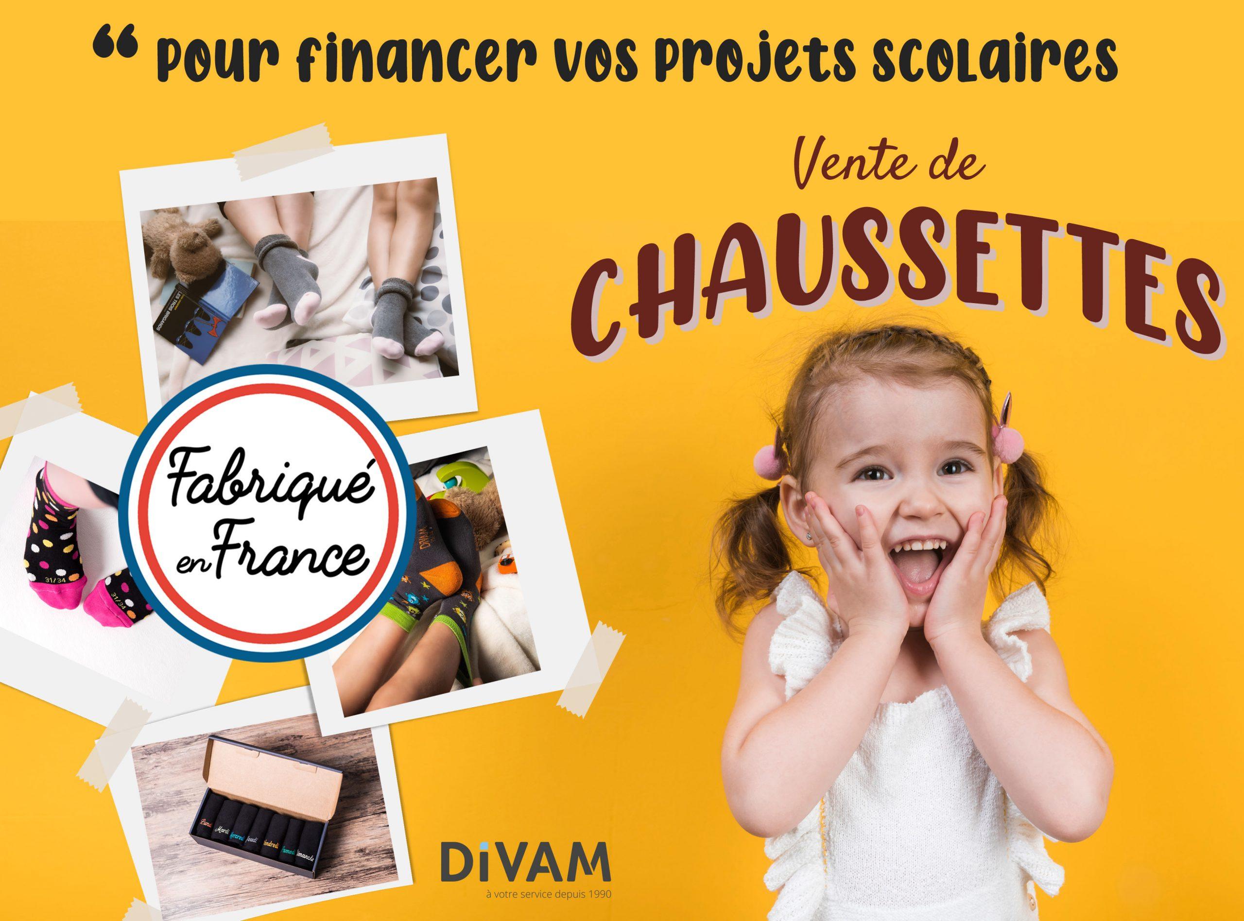 Financer vos projets d'école avec la vente de chaussettes Made In France.